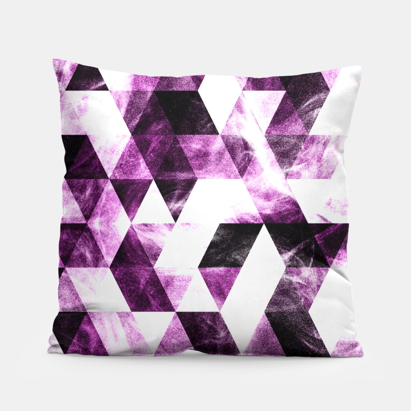 Image of Triangle Geometric Vibrant Pink Smoky Galaxy   Pillow - Live Heroes