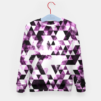 Triangle Geometric Vibrant Pink Smoky Galaxy   Kid's Sweater thumbnail image
