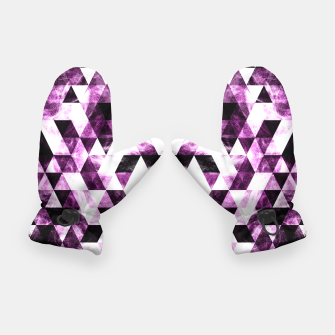 Triangle Geometric Vibrant Pink Smoky Galaxy   Gloves thumbnail image