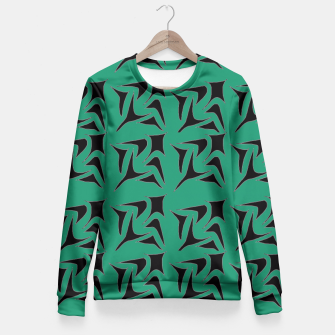 Thumbnail image of Fused in Green Fitted Waist Sweater, Live Heroes