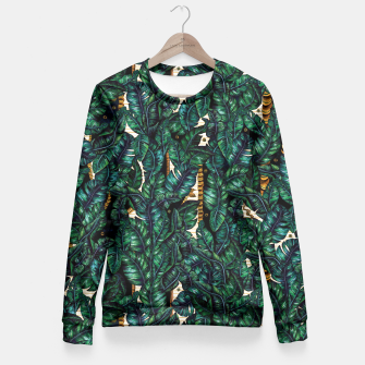 Banana Leaves by Veronique de Jong Fitted Waist Sweater thumbnail image