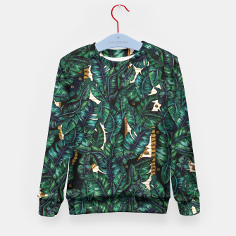 Thumbnail image of Banana Leaves by Veronique de Jong Kid's Sweater, Live Heroes
