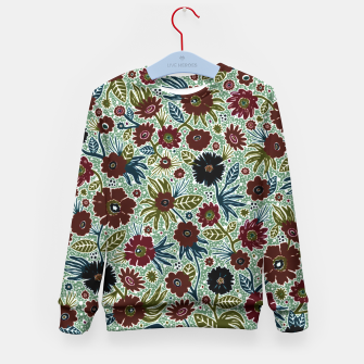 Thumbnail image of Vintage flowers by Veronique de Jong Kid's Sweater, Live Heroes