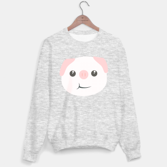 Thumbnail image of Cute chewing kawaii piggy Sweater regular, Live Heroes