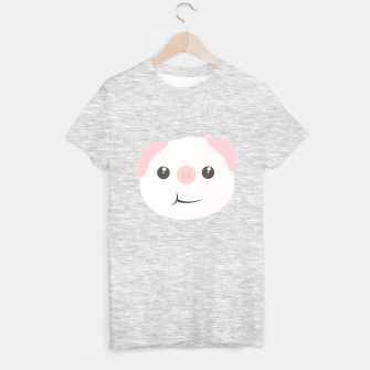 Thumbnail image of Cute chewing kawaii piggy T-shirt regular, Live Heroes