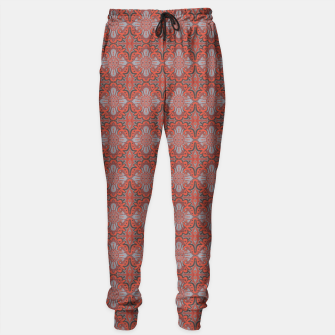Thumbnail image of Sliced pomegranate, orange & gray bohemian pattern Sweatpants, Live Heroes