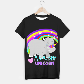 Thumbnail image of Love A Tubby Unicorn Cute  Rainbow Fantasy T-shirt regular, Live Heroes