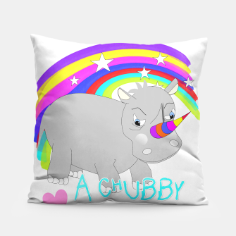 Thumbnail image of Love A Tubby Unicorn Cute  Rainbow Fantasy Pillow, Live Heroes