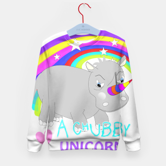 Thumbnail image of Love A Tubby Unicorn Cute  Rainbow Fantasy Kid's Sweater, Live Heroes