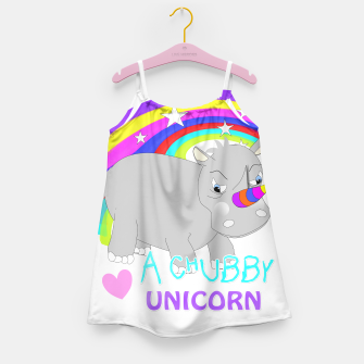 Thumbnail image of Love A Tubby Unicorn Cute  Rainbow Fantasy Girl's Dress, Live Heroes