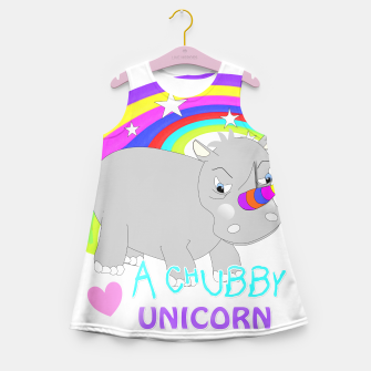 Thumbnail image of Love A Tubby Unicorn Cute  Rainbow Fantasy Girl's Summer Dress, Live Heroes