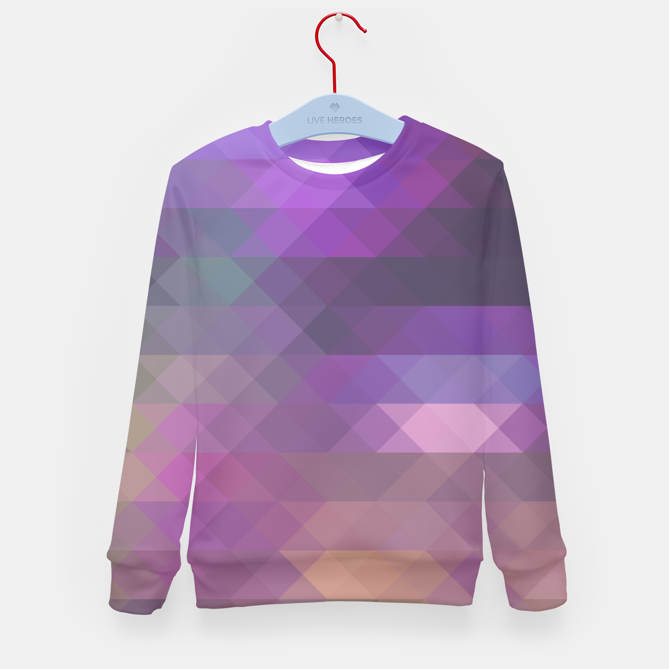 096c8347660e Triangles Abstract Geometric Graphic Kid's Sweater, Live Heroes