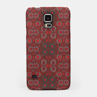 """Thumbnail image of """"Find the rabbit"""" abstract pattern in red tones Samsung Case, Live Heroes"""