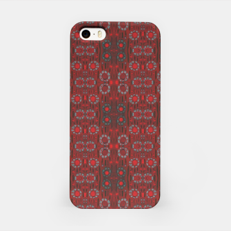 """Thumbnail image of """"Find the rabbit"""" abstract pattern in red tones iPhone Case, Live Heroes"""