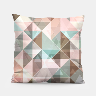 Thumbnail image of Triangles overlapping colors Almohada, Live Heroes