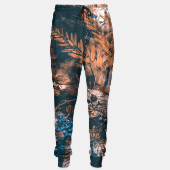 Thumbnail image of flowers brown blue Sweatpants, Live Heroes