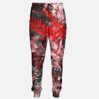 Thumbnail image of flowers red blue Sweatpants, Live Heroes