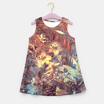 Thumbnail image of flowers and fruits Girl's Summer Dress, Live Heroes