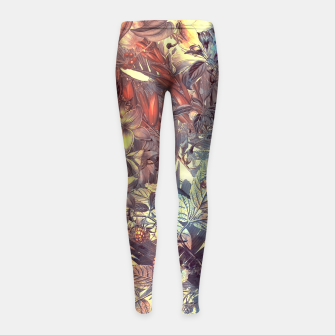 Thumbnail image of flowers and fruits Girl's Leggings, Live Heroes