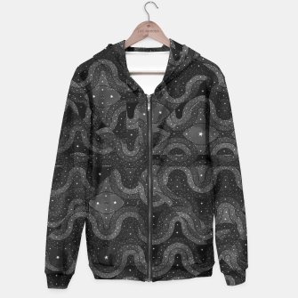 Thumbnail image of Black Sparkling Abstract Pattern  Hoodie, Live Heroes