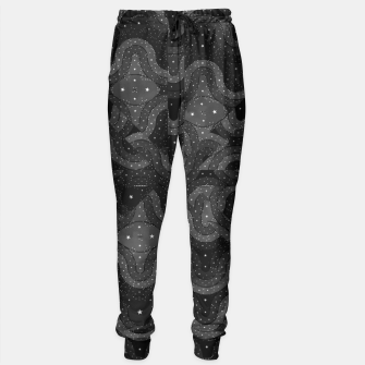 Thumbnail image of Black Sparkling Abstract Pattern  Sweatpants, Live Heroes