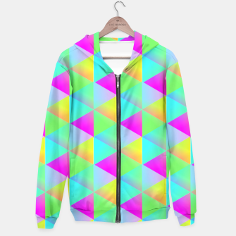 Thumbnail image of Popping Rainbow Glow Geometric Print Hoodie, Live Heroes