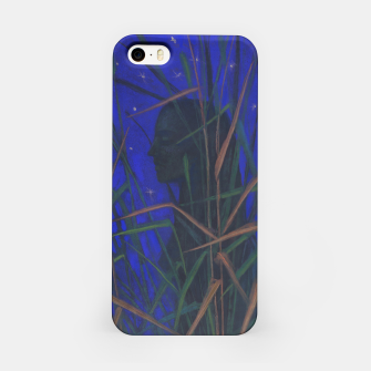 """Thumbnail image of """"The Night"""", woman silhouette, grass, starry sky iPhone Case, Live Heroes"""