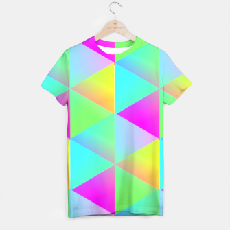 Thumbnail image of Popping Rainbow Glow Geometric Print T-shirt, Live Heroes