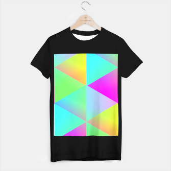 Thumbnail image of Popping Rainbow Glow Geometric Print T-shirt regular, Live Heroes