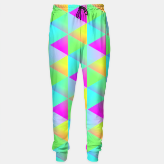Thumbnail image of Popping Rainbow Glow Geometric Print Sweatpants, Live Heroes