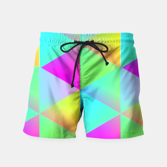 Thumbnail image of Popping Rainbow Glow Geometric Print Swim Shorts, Live Heroes