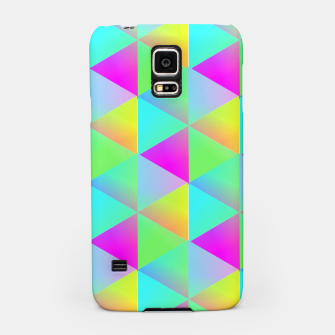 Thumbnail image of Popping Rainbow Glow Geometric Print Samsung Case, Live Heroes
