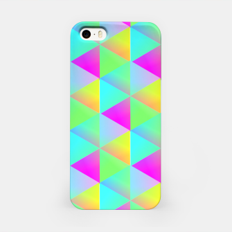 Thumbnail image of Popping Rainbow Glow Geometric Print iPhone Case, Live Heroes
