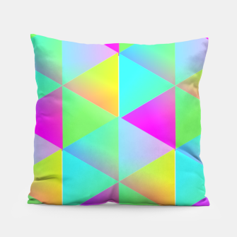Thumbnail image of Popping Rainbow Glow Geometric Print Pillow, Live Heroes