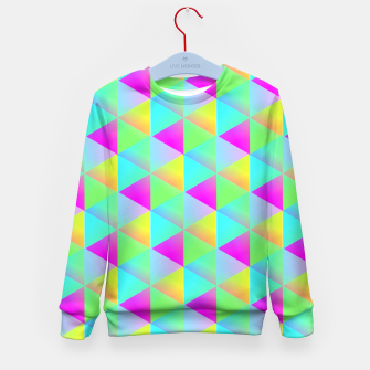Thumbnail image of Popping Rainbow Glow Geometric Print Kid's Sweater, Live Heroes