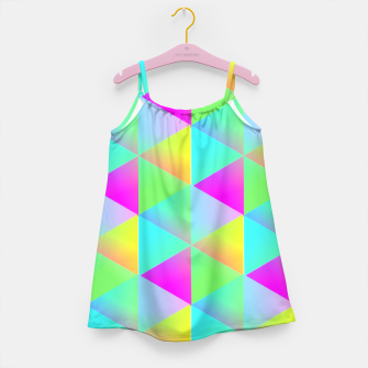 Thumbnail image of Popping Rainbow Glow Geometric Print Girl's Dress, Live Heroes