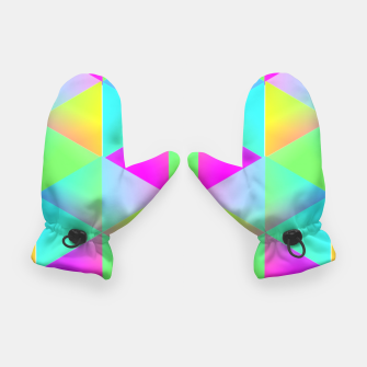 Thumbnail image of Popping Rainbow Glow Geometric Print Gloves, Live Heroes