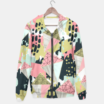 Thumbnail image of Abstract rhombus and texture Sudadera con capucha, Live Heroes