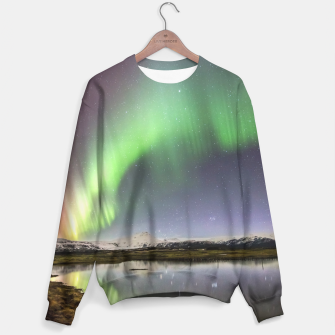 Thumbnail image of Polar Light over mountains Sweater, Live Heroes
