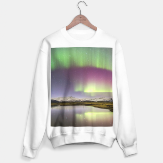 Polar Light over mountains Sweater regular thumbnail image