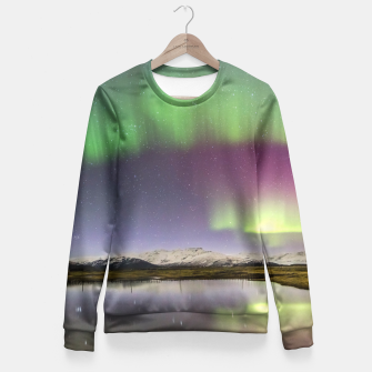 Polar Light over mountains Fitted Waist Sweater thumbnail image