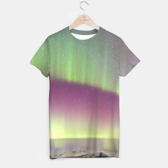Thumbnail image of Polar Light over mountains T-shirt, Live Heroes