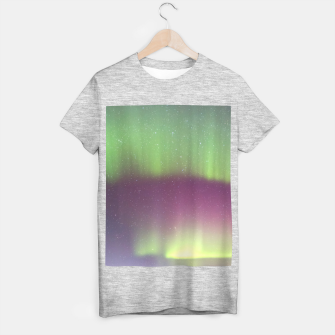 Thumbnail image of Polar Light over mountains T-shirt regular, Live Heroes