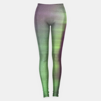 Thumbnail image of Polar Light over mountains Leggings, Live Heroes