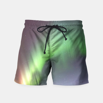 Polar Light over mountains Swim Shorts thumbnail image