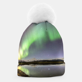 Thumbnail image of Polar Light over mountains Beanie, Live Heroes