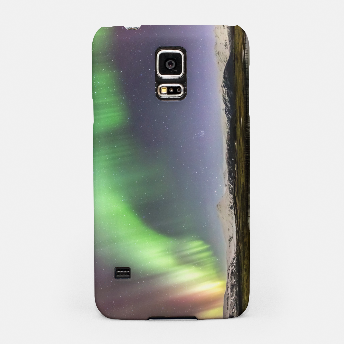 Image of Polar Light over mountains Samsung Case - Live Heroes