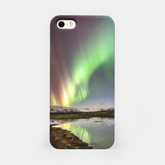 Polar Light over mountains iPhone Case thumbnail image