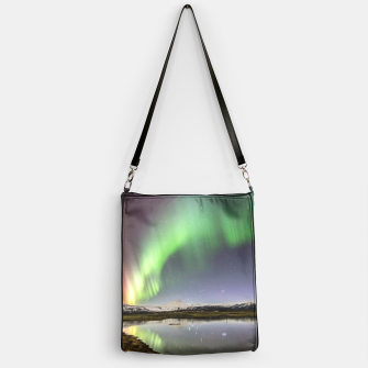 Thumbnail image of Polar Light over mountains Handbag, Live Heroes