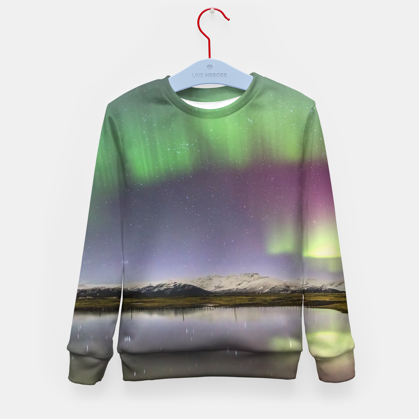 Image of Polar Light over mountains Kid's Sweater - Live Heroes